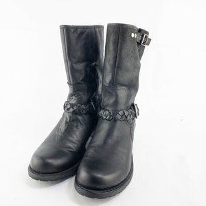Nicole Womens Round Toe Buckle Boots Size US 8.5